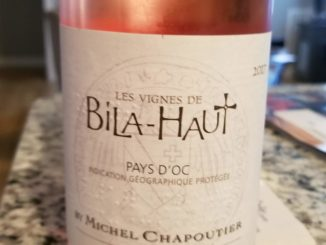 Image of a bottle of 2017 Michel Chapoutier Bila-Haut Rose'