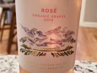 Image of a bottle of 2017 Domaine Bousquet Rose'
