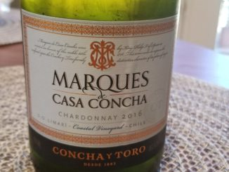 Image of a bottle of 2016 Marques de Casa Concha Chardonnay