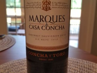 Image of a bottle of 2016 Marques de Casa Concha Cabernet Sauvignon