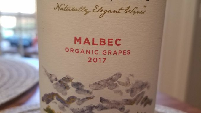 Image of a bottle of 2017 Domaine Bousquet Malbec