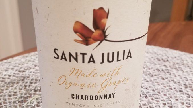 Image of a bottle of 2018 Santa Julia Organic Chardonnay