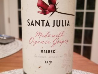 Image of a bottle of 2017 Santa Julia Malbec