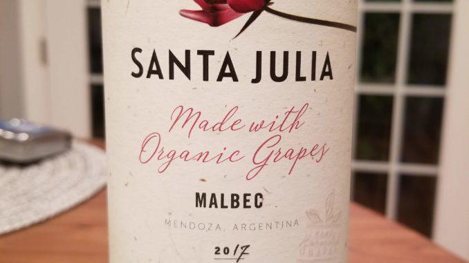 Image of a bottle of 2017 Santa Julia Malbec
