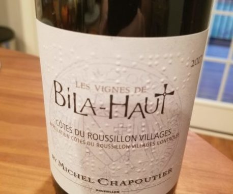 Image of a bottle of 2017 M. Chapoutier Les Vignes de Bila-Haut Cotes du Roussillon Villages Rouge