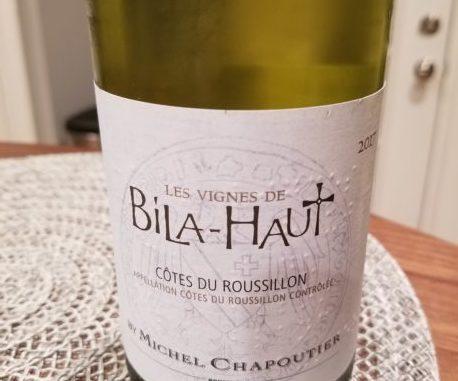 Image of a bottle of 2017 M. Chapoutier Les Vignes de Bila-Haut Cotes du Roussillon Blanc