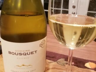 Image of a bottle of 2017 Domaine Bousquet Reserve Chardonnay