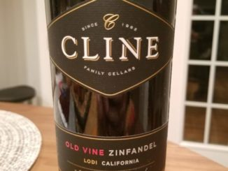Image of a bottle of 2017 Cline Old Vine Zinfandel
