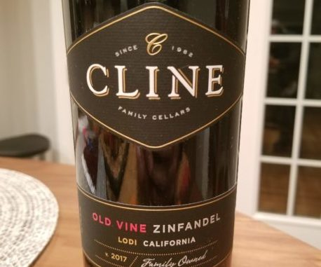 Image of a bottle of 2017 Cline Old Vine Zinfandel