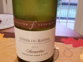 Image of a bottle of 2017 Ferraton Pere & Fils Cotes-du-Rhone Samorens Blanc