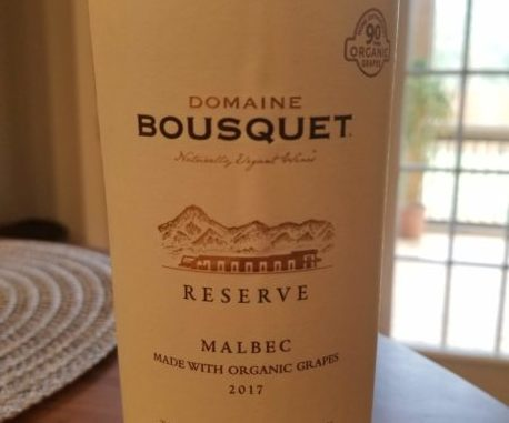 Image of a bottle of 2017 Domaine Bousquet Reserve Malbec