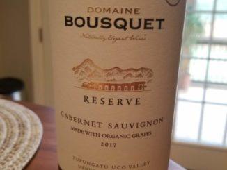 Image of a bottle 2017 Domaine Bousquet Reserve Cabernet Sauvignon