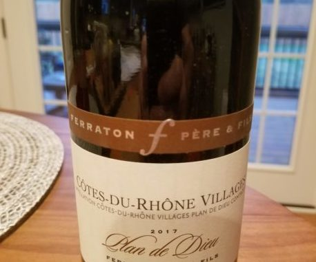 Image of a bottle of 2017 Ferraton Pere & Fils Cotes-du-Rhone Villages Plan de Dieu
