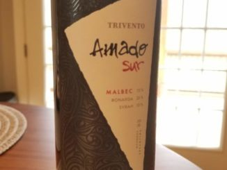 Image of a bottle of 2016 Trivento Amado Sur Malbec