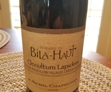 Image of a bottle of 2016 M. Chapoutier Bila-Haut Occultum Lapidem Rouge