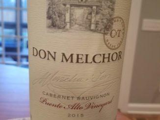 Image of a bottle of 2015 Don Melchor Cabernet Sauvignon