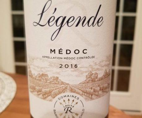 Image of a bottle of 2016 Legende Medoc