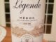 Image of a bottle of 2016 Legende Medoc