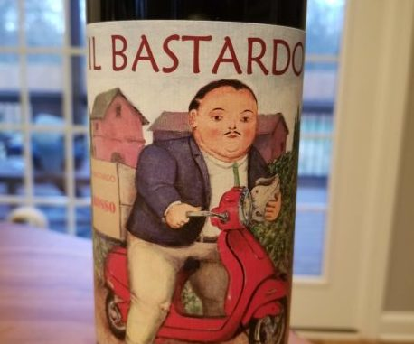 Image of a bottle of 2017 Il Bastardo Sangiovese