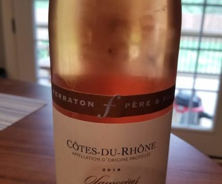 Image of a bottle of 2018 Ferraton Pere & Fils Cotes-du-Rhone Samorens Rose'