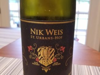 Image of a bottle of 2018 St. Urbans-Hof Estate Riesling from Old Vines