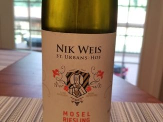 Image of a bottle of 2018 St. Urbans-Hof Estate Dry Riesling