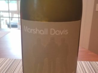 Image of a bottle of 2017 Marshall Davis Estate Chardonnay