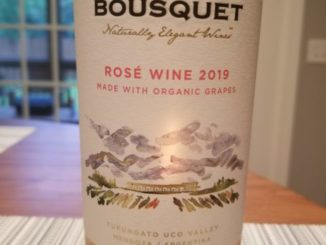 Image of a bottle of 2019 Domaine Bousquet Rose'