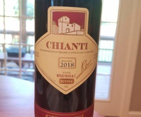 Image of a bottle of 2018 Renzo Masi Chianti