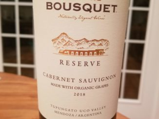 Image of a bottle of 2018 Domaine Bousquet Reserve Cabernet