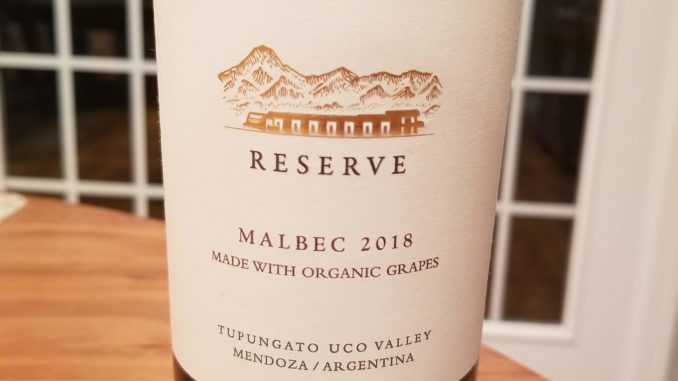 Image of a bottle of 2018 Domaine Bousquet Reserve Malbec