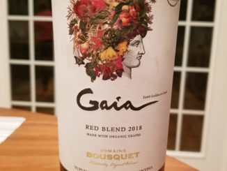 Image of a bottle of 2018 Domaine Bousquet Gaia Red Blend