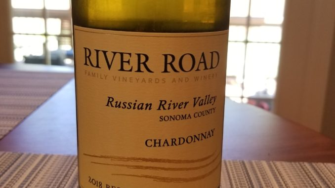 Image of a bottle of 2018 River Road Reserve Chardonnay