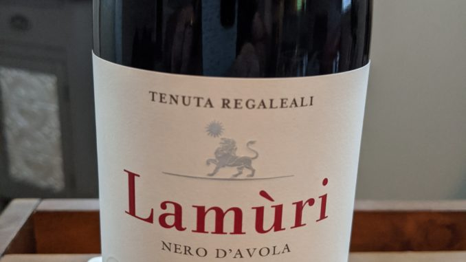 Image of a bottle of 2016 Tasca d'Almerita Lamuri Nero d'Avola