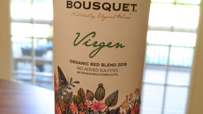 Image of a bottle of 2018 Domaine Bousquet Virgen Red Blend