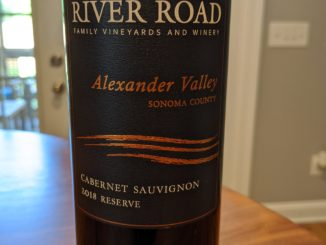 Image of a bottle of 2018 River Road Reserve Cabernet Sauvignon