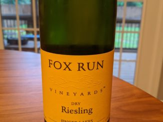 Image of a bottle of 2017 Fox Run Vineyards Dry Riesling