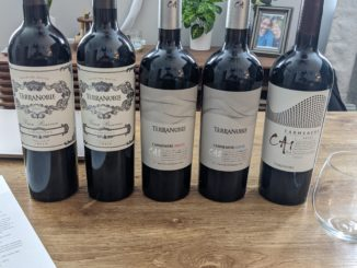 Image of bottles from a TerraNoble Carmenere Tasting