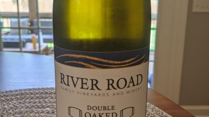 Image of a bottle of 2019 River Road Double Oaked Chardonnay