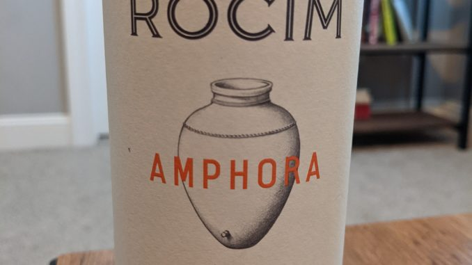 Image of a bottle of 2019 Herdade do Rocim Amphora